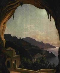 strasse bei amalfi by julius edward w. helfft
