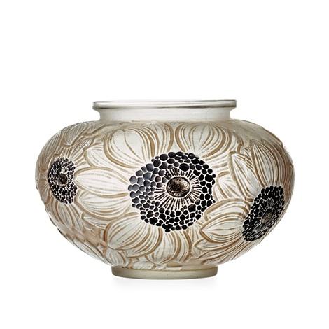 A Dahlias Cast Glass Vase France 1920 30s By Ren Lalique On Artnet