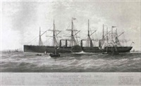 the 'great eastern' steam ship by thomas picken