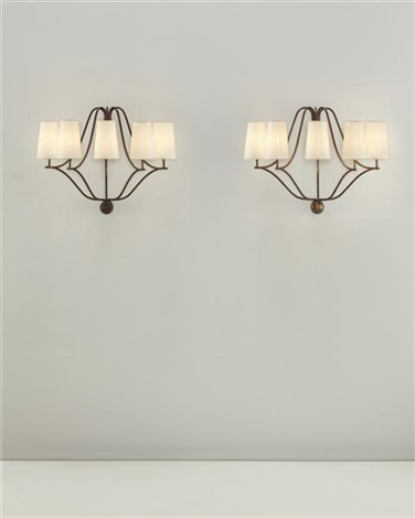 demi-corbeille wall lights (pair) by jean royère