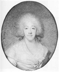 portrait de marie-josephine de savoie, comtesse de provence by joseph boze