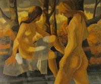 baigneuses du matin by jean abadie