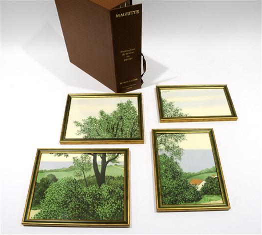 profondeur de la terre - paysage (4 works) by rené magritte