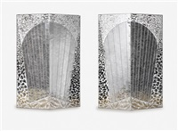 birds of paradise (diptych) by monir shahroudy farmanfarmaian