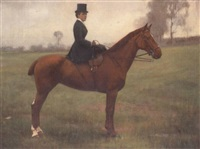 portrait of a lady on horseback by edward edgar anderson