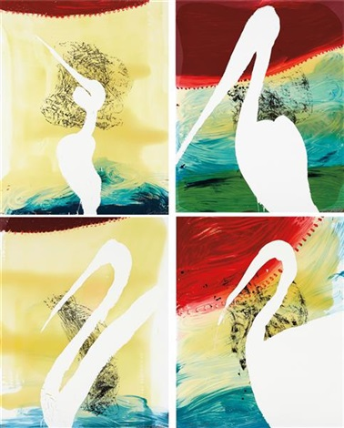 view of dawn in the tropics suite four prints 4 works by julian schnabel