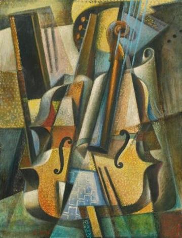 natura morta con violino by roberto marcello baldessari