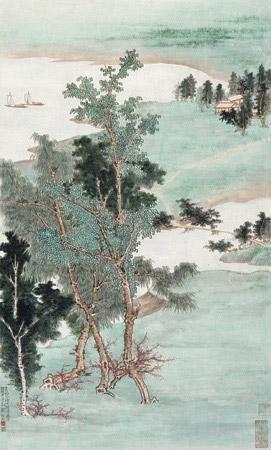 回溪清远图 by xie zhiliu