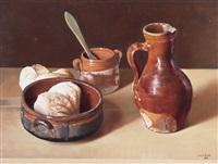 bodegón con panes by juan lascano