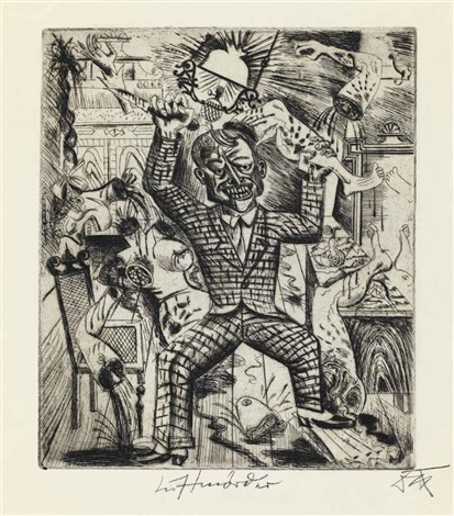 lustmörder from 5 radierungen by otto dix