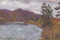 lake in the altai by mikhail nikolaevich yakovlev