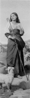 rachel, the shepherdess by wilfrid vincent herbert