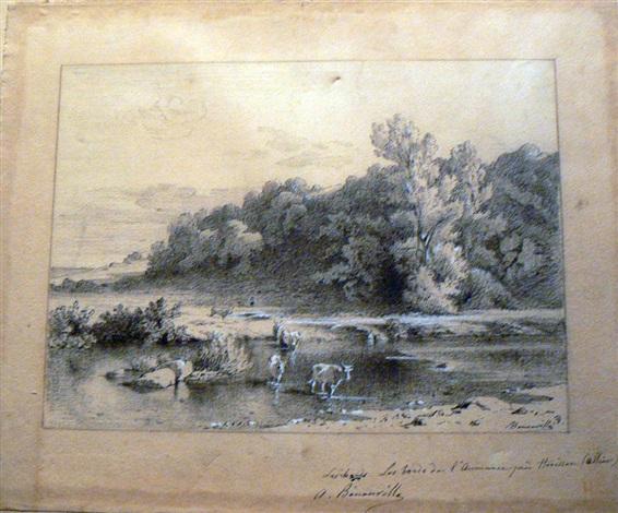 les bords de laumance près dhérisson allier by jean achille bénouville
