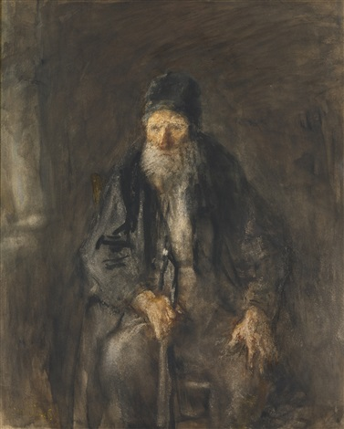 seated man by jozef israëls