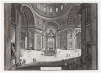 Veduta interna della Basilica di S. Pietro..., 1773