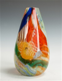 murano frammentati glass vase (for aureliano toso) by dino martens