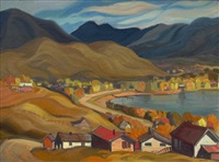 kalamalka lake at coldstream, b.c. by henry george glyde