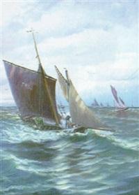 marin med segelbåtar by anund emanuel