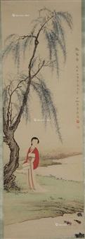 观春图 立轴 纸本 by chen shaomei