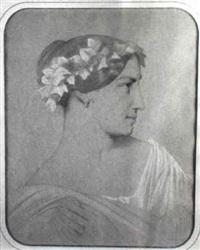 portrait de femme à la couronne de lierre by eugène emmanuel amaury-duval (pineu)
