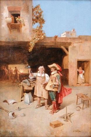 mousquetaire chez le forgeron by enrique atalaya