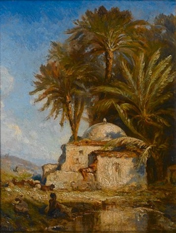tomb of a sheik by prosper georges antoine marilhat