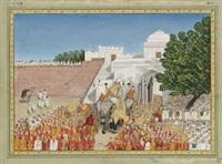a royal procession by anonymous-indian (19)