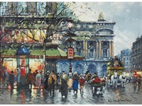 la place de l'opera by antoine blanchard