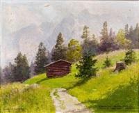 fieberhorn tennengebirge geseh. oberhalb werfen salzburg by franz xaver jung-ilsenheim