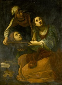 saint cecilia with the head of saint valerius by alessandro tiarini