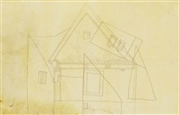 pettyegetett fûrészmintás ház (splodgy house with saw pattern) by lajos vajda