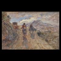 paesaggio meridionale con figure by filippo carcano