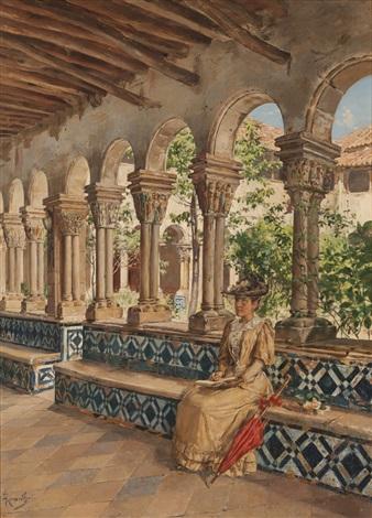 lady in cloister by antonio ramalho