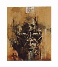 satan and skull by yarek godfrey