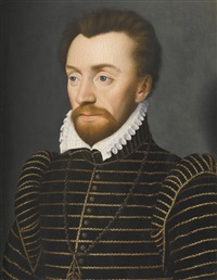portrait of louis i de bourbon, prince de condé (7 may - 13 march 1569), head and shoulders by françois clouet