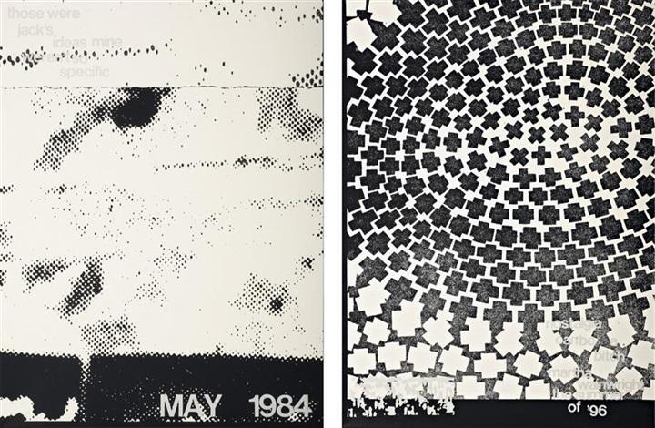 history (may 1984 white) (+ history (nostalgia white); 2 works) by adam pendleton