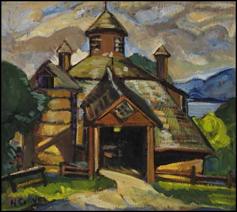 eastern townships landscape farm eastern townships verso by nora frances elisabeth collyer