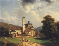 church and convent near palanza, lake maggiore by luigi ashton