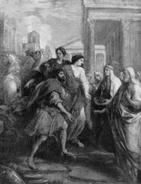 l'arrivée de la vestale au temple by domenico corvi
