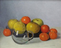 nature morte aux fruits et au verre by jacques blanchard