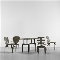 falls table and fourth frond chairs (set of 5) by terence main