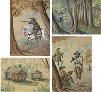 bird hunting (+ 3 others; 4 works) by franz holzlhuber
