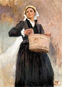 lady with a tub by aladár körösföi kriesch
