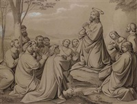 christ at prayer with his disciples by johann friedrich overbeck