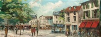 continental street scenes (pair) by betty raphael