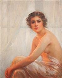 femme au déshabillé by edouard bisson