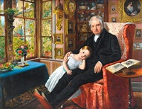 james wyatt and his granddaughter mary wyatt by william henry millais
