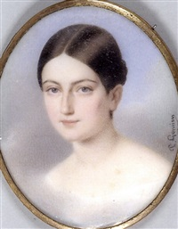 portrait de jeune fille by paul gomien