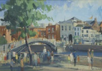 the halfpenny bridge, dublin by brian quinn