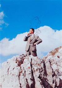 ohne titel (mann mit frosch) by martin kippenberger